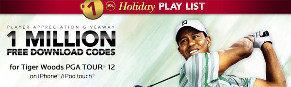 Promocode do Tiger Woods PGA TOUR 12