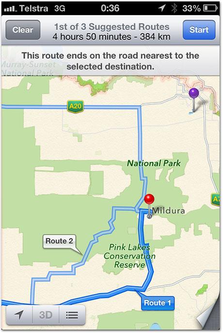 Opções equivocadas no Parque Nacional australiano