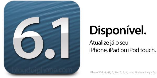 Photo of Apple libera versão final do iOS 6.1 para todos os usuários