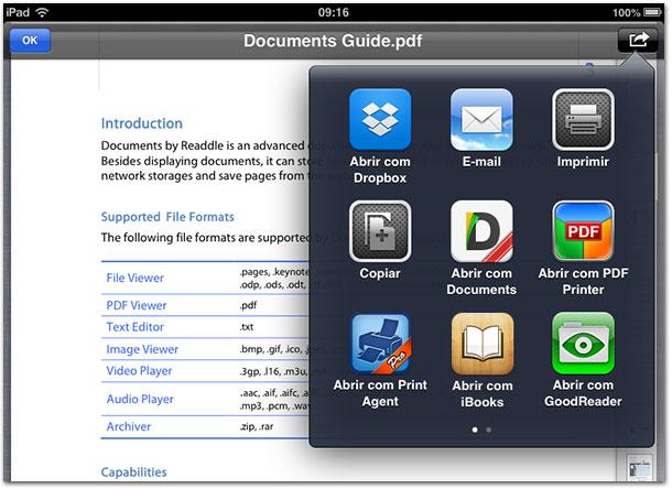 Escolha o aplicativo para abrir o PDF