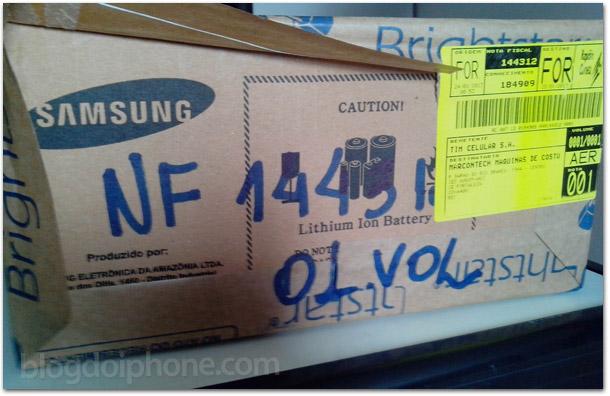 Caixa da Samsung