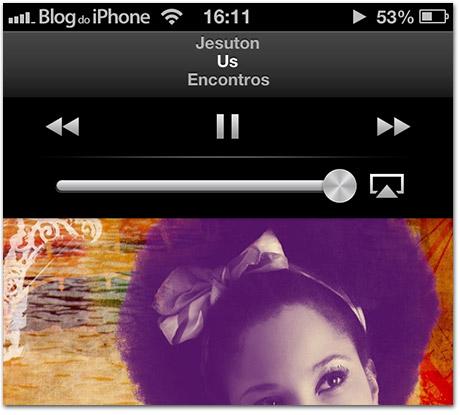 Ouvindo músicas com a tela bloqueada