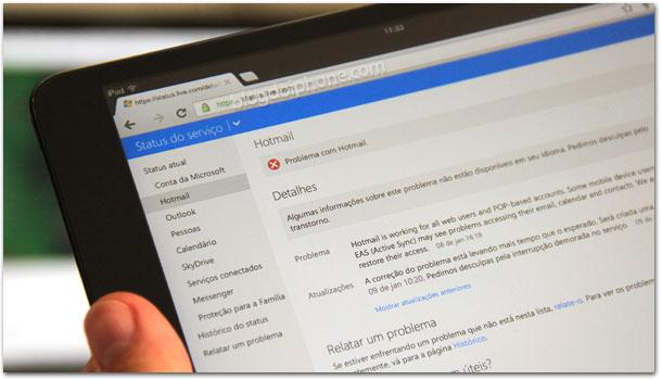 Hotmail com problemas