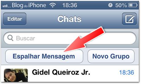 Espalhar Mensagem no WhatsApp