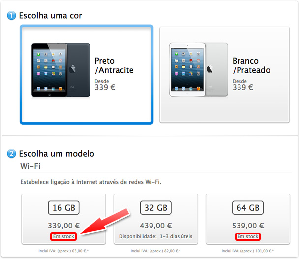 iPad mini em Portugal
