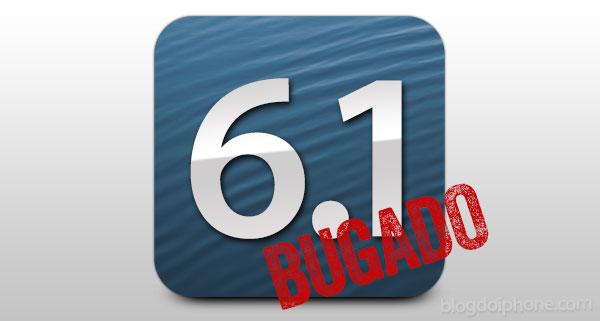 iOS 6.1 bugado