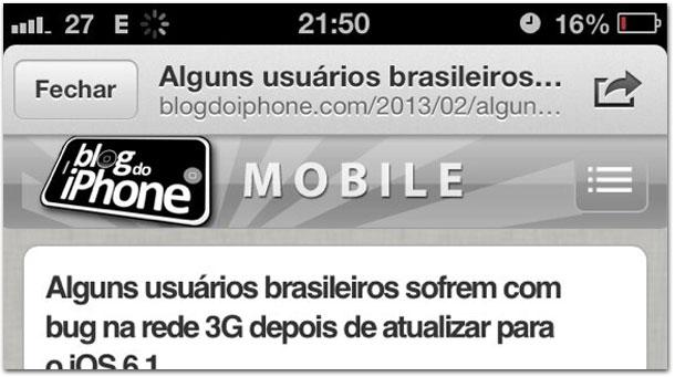 Bug iOS 6.1