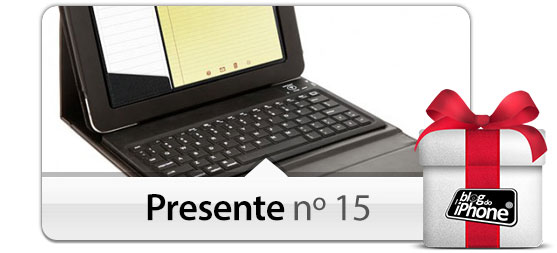 Capa em couro com teclado