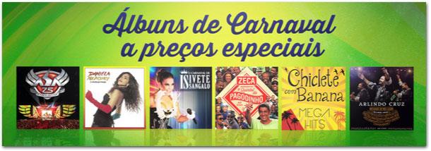 Álbuns de Carnaval a preços especiais
