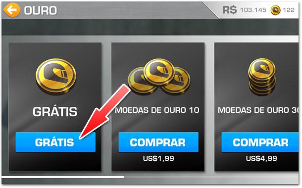 Real Racing 3 - Moedas grátis