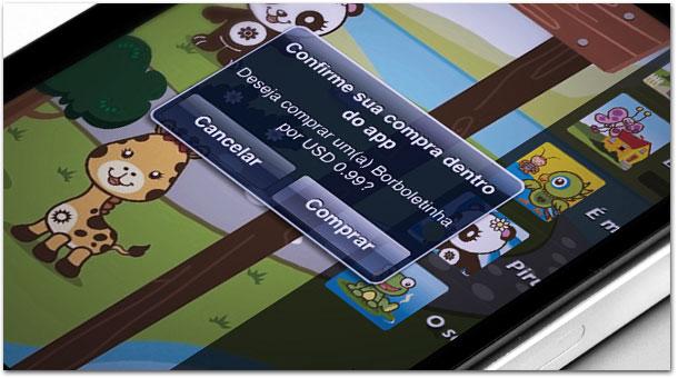 Compras in-app feitas por crianças