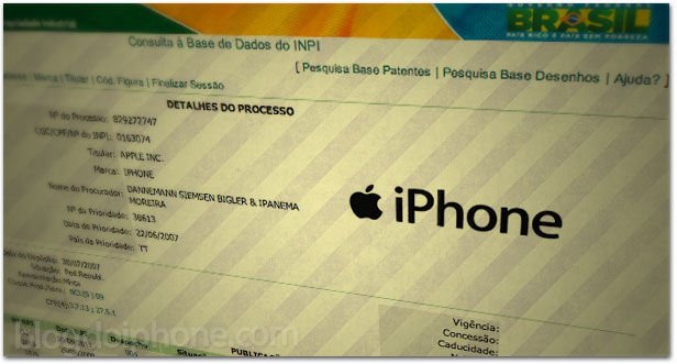 Marca iPhone no Brasil