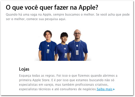 Empregos na Apple Store