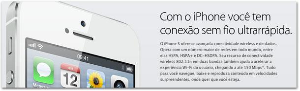 iPhone: conexão ultrarrápida