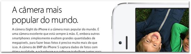 iPhone: câmera