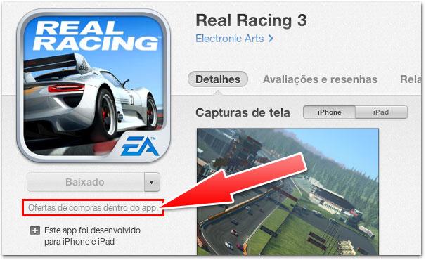 Compras in-app agora explícitas