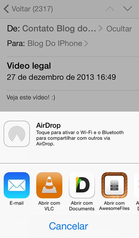 Abrindo o vídeo no VLC