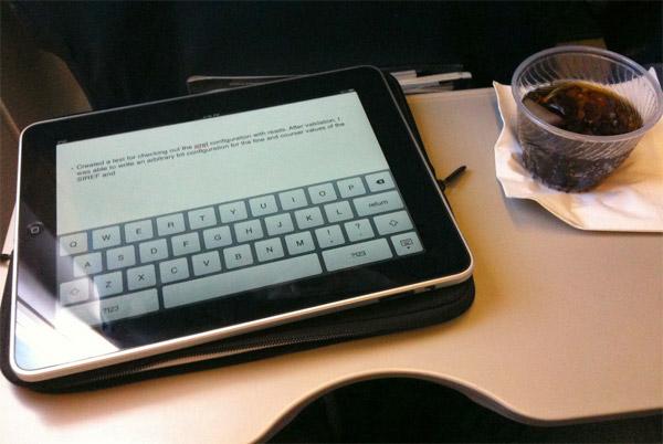 Voando com o iPad