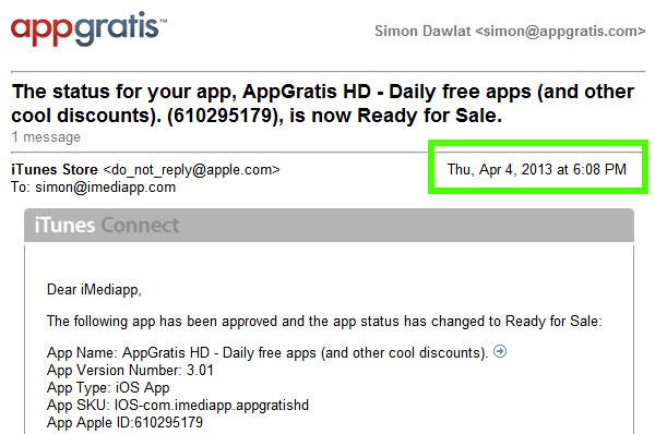 AppGrátis aprovado pela Apple