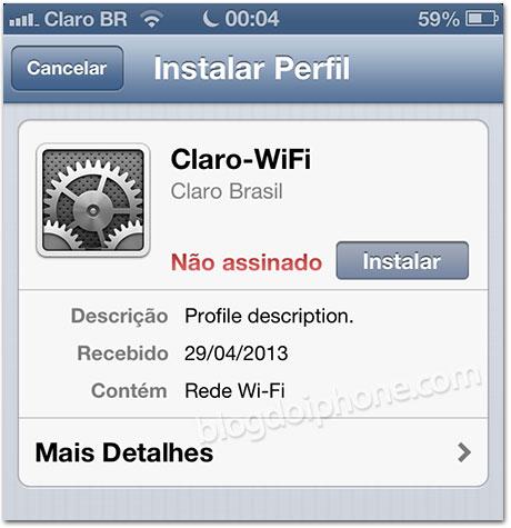 Perfil Claro Wi-Fi