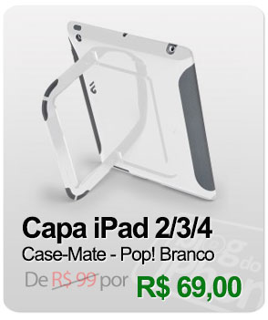 Case Pop! para iPad 2/ 3/ 4 - Case-Mate - Branco