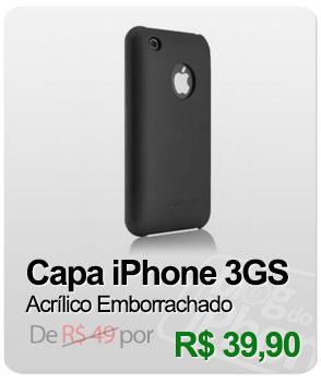 Capa Acrílico Emborrachado para iPhone 3G e 3GS - Preto - Case-Mate