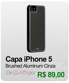 Capa iPhone 5 Case-Mate - Brushed Aluminum Cinza