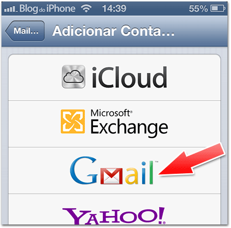 Configurando o email do Google