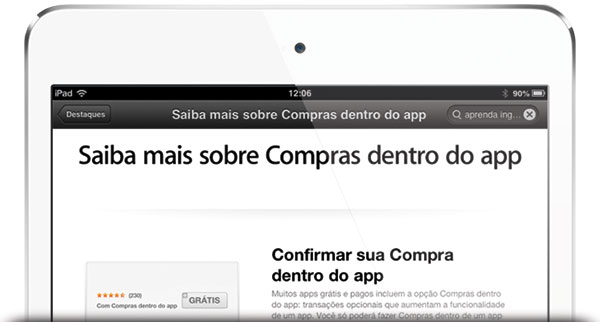 Compras dentro do app — in-app purchases