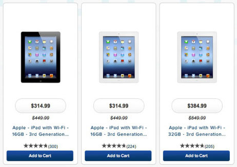 Queda de preços do iPad 4