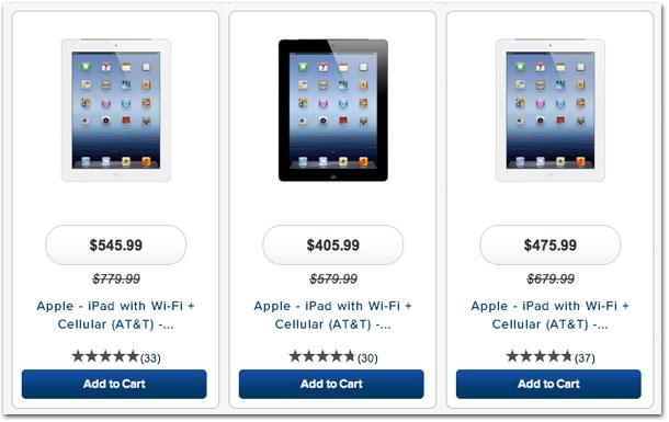 Preços do iPad