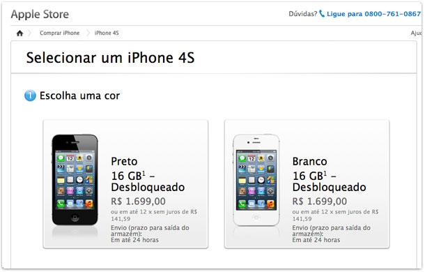 Photo of Não é mentira: Apple baixa o preço do iPhone 4 e 4S em sua loja online