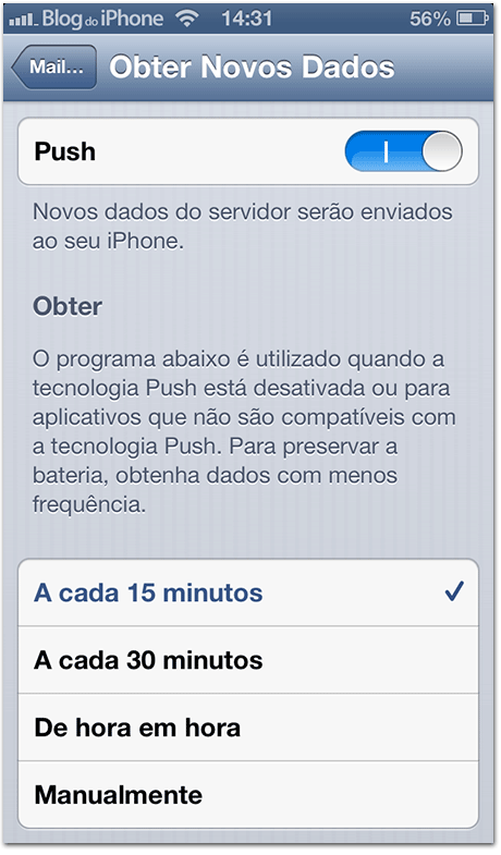 Push no iOS