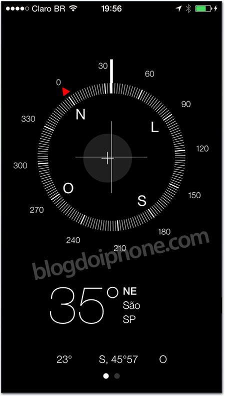 iOS 7 - Bussola
