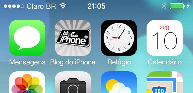 iOS 7 - Relógio