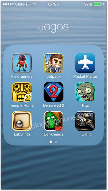 iOS 7 - Pastas