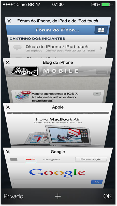 iOS 7 — Safari