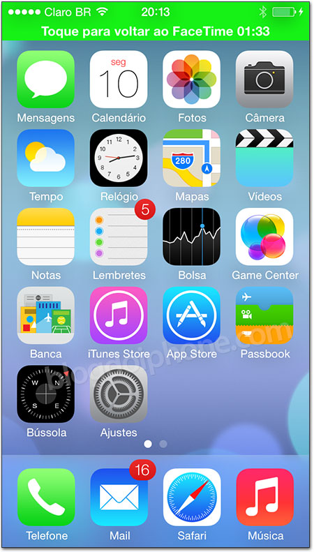iOS 7 - Screen