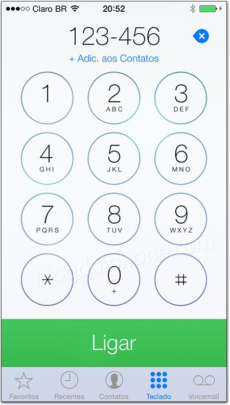 iOS 7 - Telefone