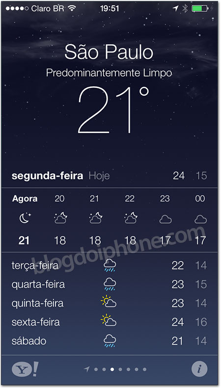 iOS 7 - Tempo