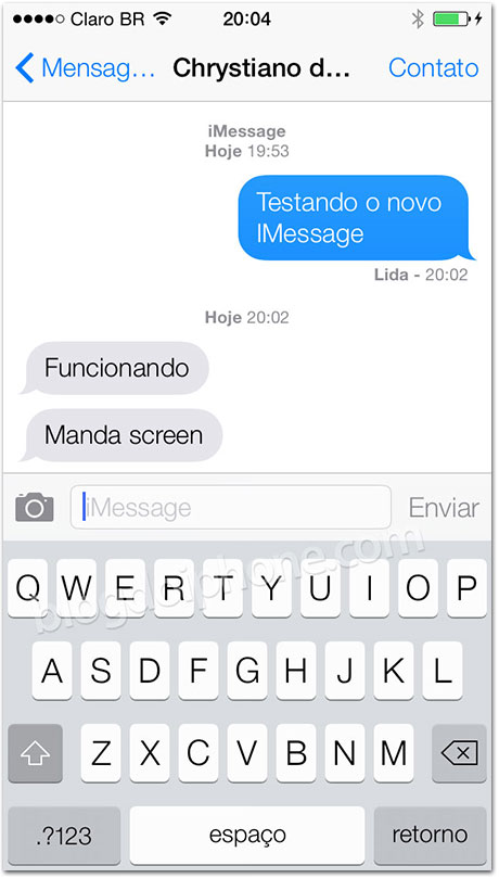 iOS 7 - iMessage