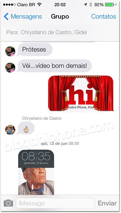 Avatares no iMessage