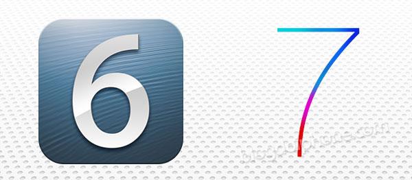 Diferença entre iOS 6 e 7