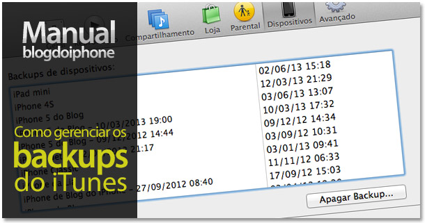 Manual BDI — Como gerenciar os backups do iTunes