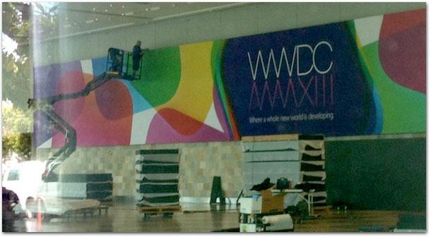 Photo of Apple começa a decorar o Moscone Center para a WWDC 2013