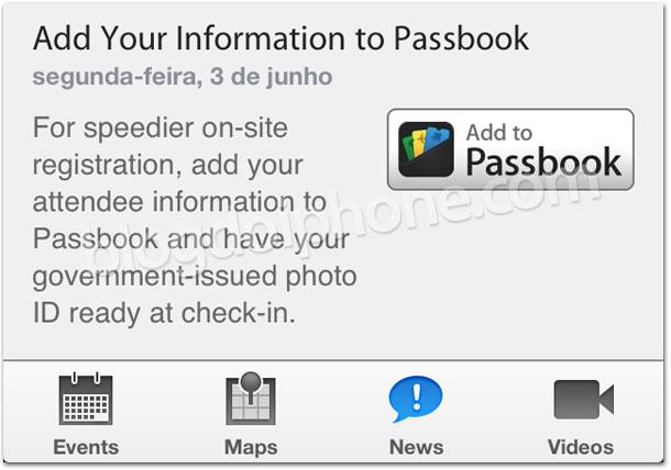 Acesso ao Passbook