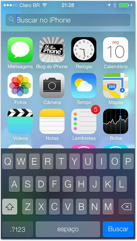 iOS 7 - Spotlight