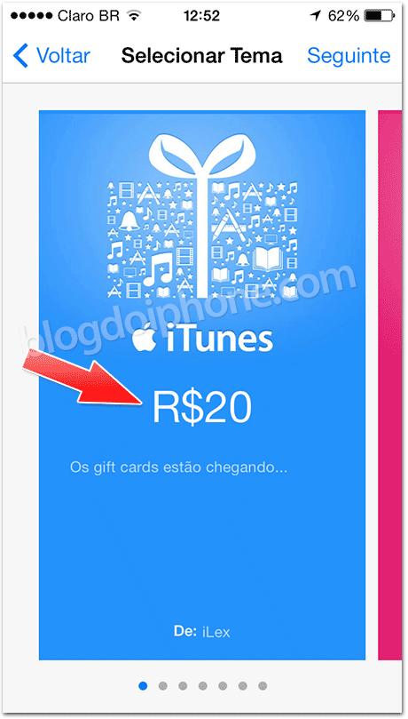 Apple se prepara para disponibilizar vale-presentes na loja brasileira, em Reais