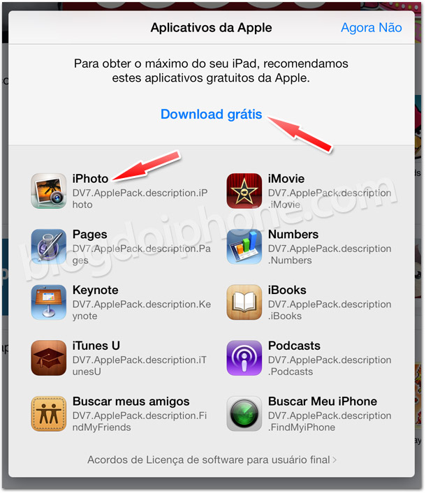 Apps da Apple de graça