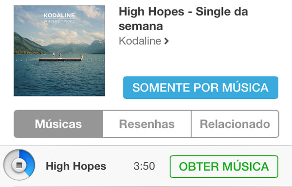 Photo of [música grátis] 'High Hopes' é o Single da Semana escolhido pela Apple